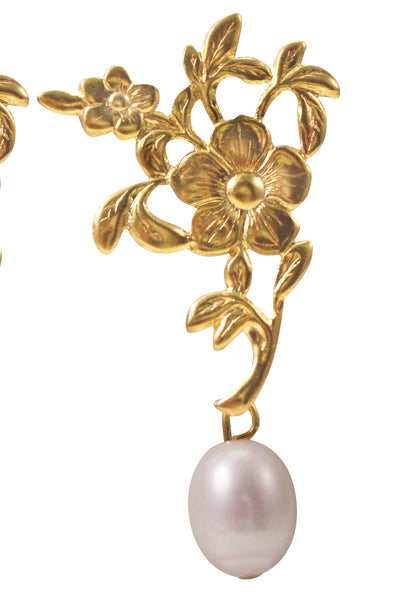 GRETEL PEARL EARRINGS - GOLD