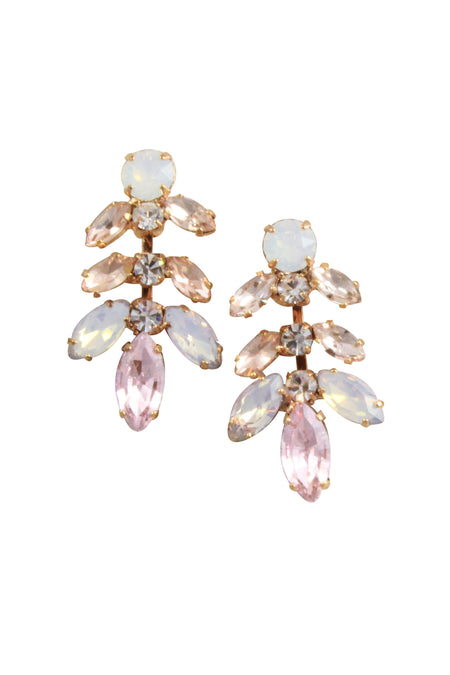 PETUNIA EARRINGS- ROSE GOLD/ PINK OPAL