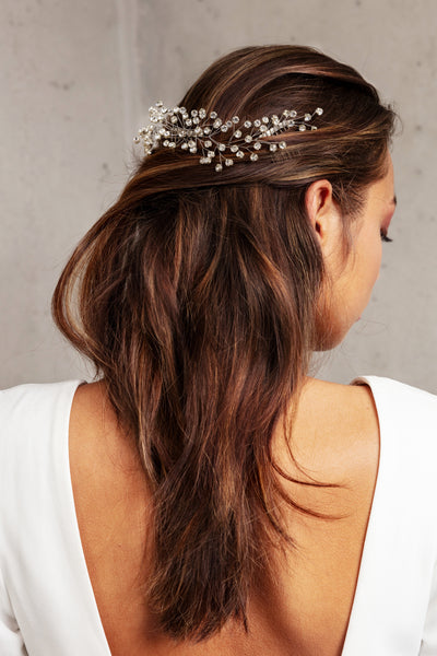 EMERY HEADPIECE- SILVER