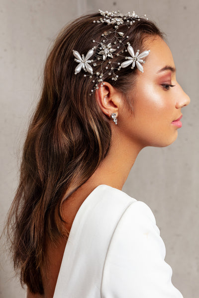 FREYA HEADPIECE- SILVER
