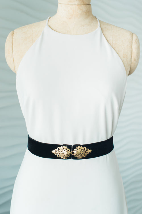 BAROQUE SASH- GOLD/BLACK