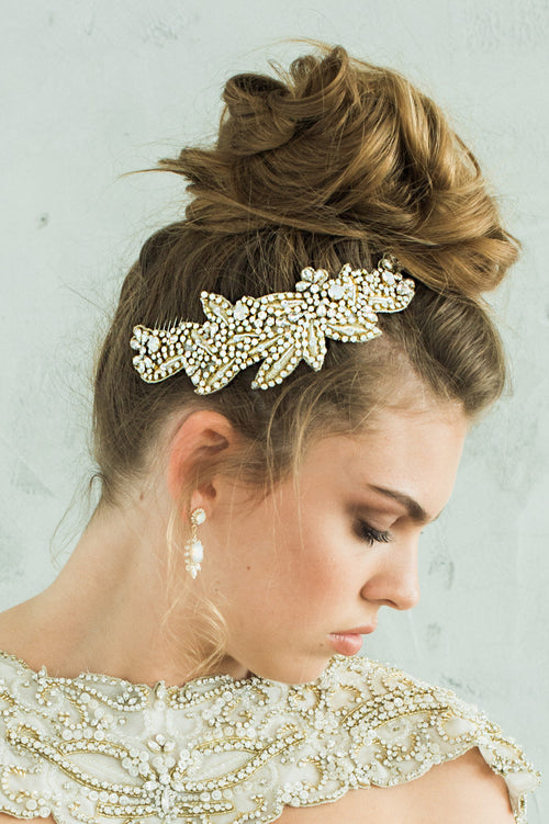 HYACINTHE HEADPIECE- GOLD
