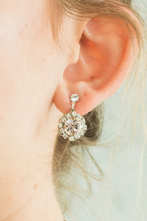 PETUNIA EARRINGS- SILVER/ BLUSH