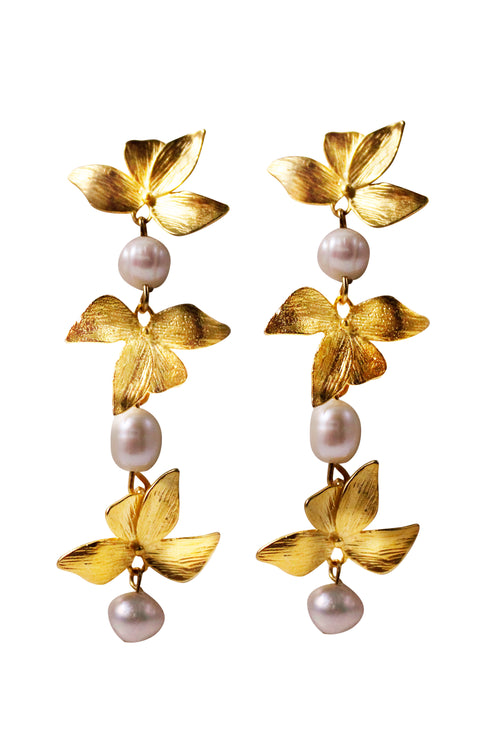 ORCHID EARRINGS - GOLD