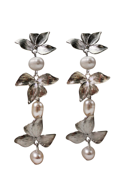 ORCHID EARRINGS - SILVER