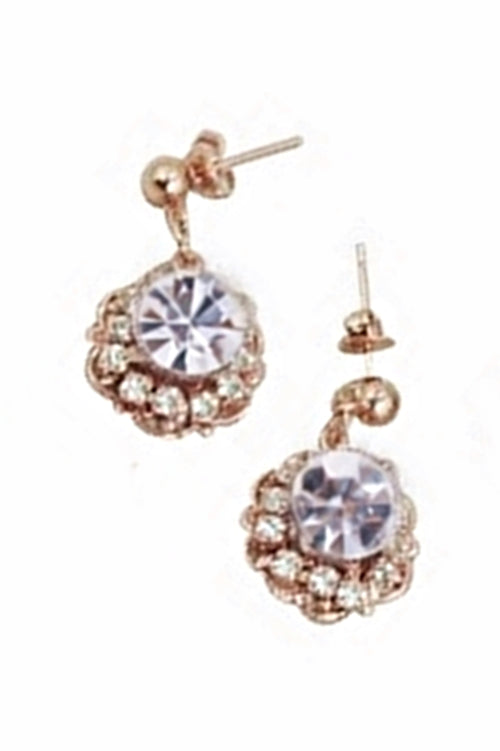 PETUNIA EARRINGS- ROSE GOLD/ CLEAR