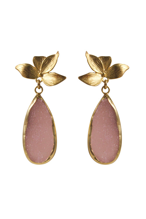 VIVIEN EARRINGS - GOLD/BLUSH