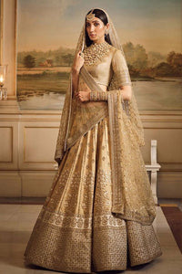 Goldenrod Color Attractive Designer Beautiful Bridal Lehenga-Bridal Lehenga Store CMB054
