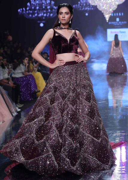 Maroon Color Attractive Designer Beautiful Bridal Lehenga-Bridal Lehenga Store CMB019