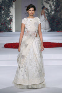 Exclusive Designer Ivory embroidered lehenga-Bridal Lehenga Store