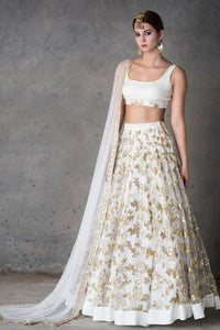 Beautiful Designer White Color Party Wear Lehenga Choli-Bridal Lehenga Store