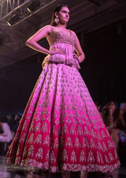 Light Pink Color Attractive Designer Beautiful Bridal Lehenga-Bridal Lehenga Store CMB016