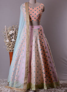 Exclusive Heavy Designer Beautiful Baby Pink Color Party Wear Lehenga Choli - Stylizone