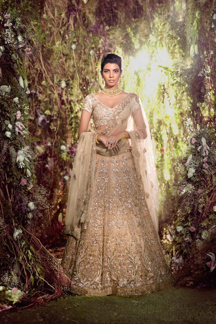Exclusive Heavy Designer Beautiful Beige color Lehenga Choli-Bridal Lehenga Store