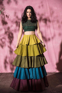Beautiful Designer Multi Color Party Wear Lehenga Choli-Bridal Lehenga Store