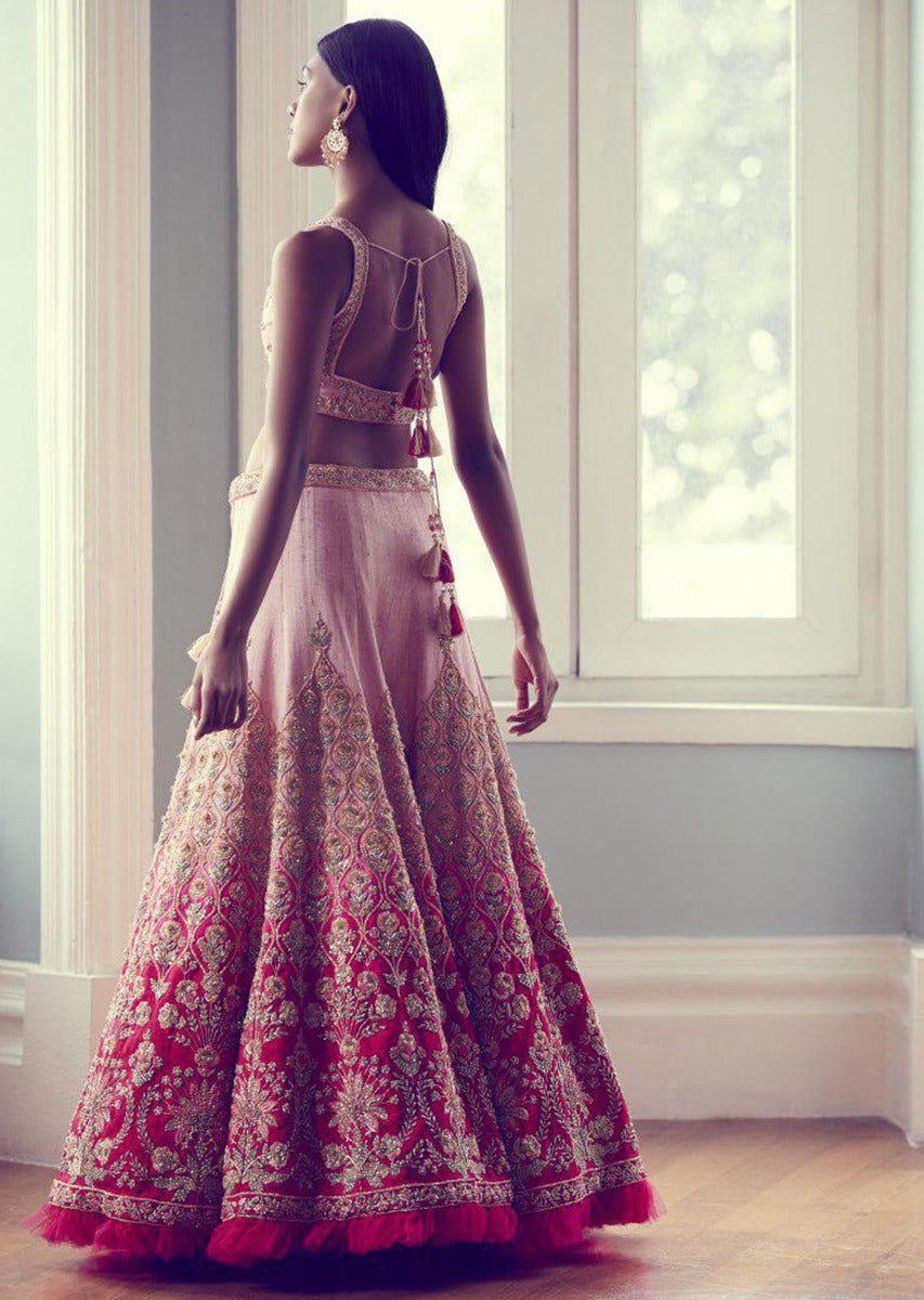 Light pink Color Attractive Designer Beautiful Bridal Lehenga-Bridal Lehenga Store CMB017