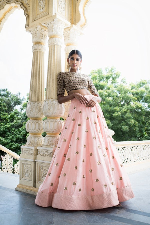A103 Baby Pink Color Beautiful Attractive Designer Bridal Lehenga-Bridal Lehenga Store CME008