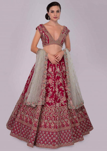 Pink  Color Attractive Designer Beautiful Bridal Lehenga-Bridal Lehenga Store CMB024