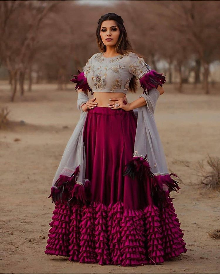 Beautifully designed crimson lehenga choli CMN019