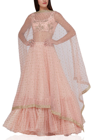 Baby Pink Color Beautiful Designer Bridal Lehenga-Bridal Lehenga Store CME012