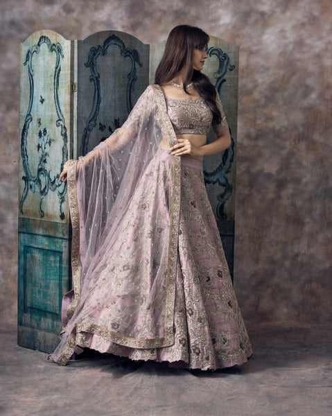 Beautiful Designer Light Purple Color Party Wear Lehenga Choli-Bridal Lehenga Store CMH006