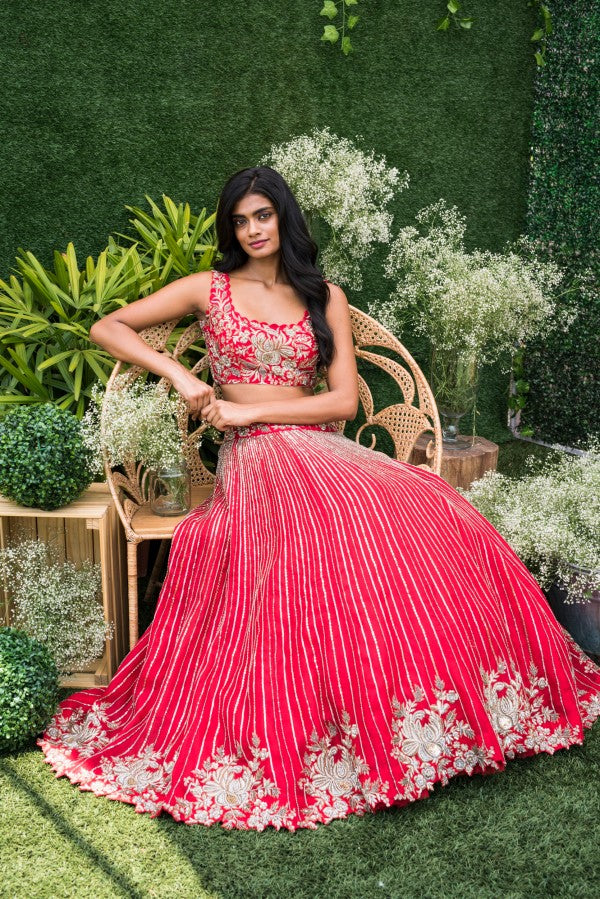 105 Pink Copy of Beautiful Designer Cream Color Party Wear Lehenga Choli-Bridal lehenga Store CMH088