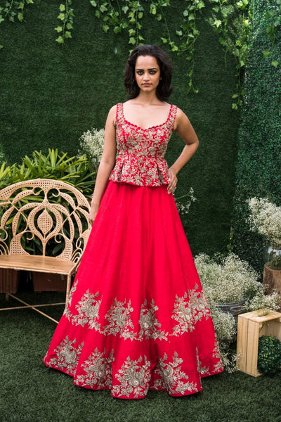 105 Pink Copy of Beautiful Designer Cream Color Party Wear Lehenga Choli-Bridal lehenga Store CMH089