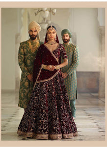 A125-Exclusive Heavy Designer Beautiful Wine Color Bridal Lehenga Choli - Stylizone