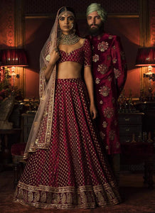 A134-Exclusive Heavy Designer Beautiful Maroon Color Party Lehenga Choli - Stylizone