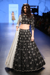 105 Black Beautiful Designer Blue Color Party Wear Lehenga Choli-Bridal Lehenga Store CMH058