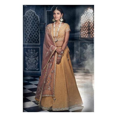 Exclusive Heavy Designer Beautiful Yellow color Lehenga Choli-Bridal Lehenga Store