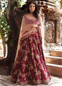 Exclusive Heavy Designer Beautiful Maroon Party Wear Lehenga Choli - Stylizone