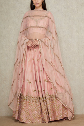 Baby Pink Color Beautiful Designer Bridal Lehenga-Bridal Lehenga Store CME014