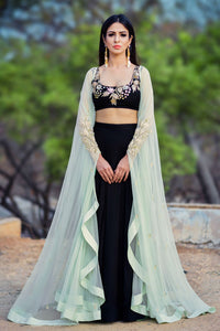 Beautiful black lehenga choli with shrug CMN002