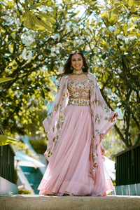 Elegant lehenga choli with shrug CMN040