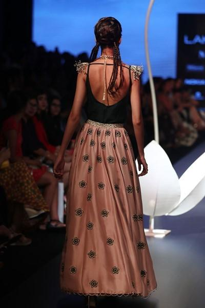 Exclusive Designer Blush embroidered lehenga skirt with top-Bridal Lehenga Store