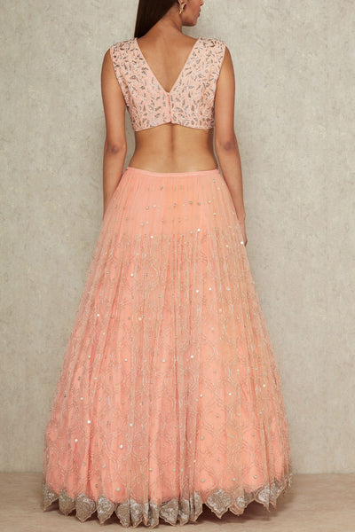Baby Pink Color Beautiful Designer Bridal Lehenga-Bridal Lehenga Store CME013