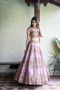 Beautiful Designer Pink Color Shade Bridal Lehenga Choli-Bridal Lehenga Store
