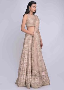 Baby Pink Color Attractive Designer Beautiful Bridal Lehenga-Bridal Lehenga Store CMB005