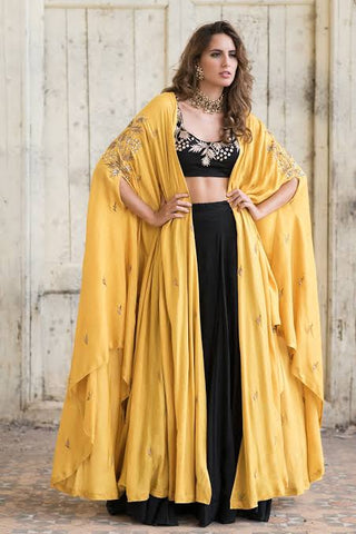 Elegant lehenga choli with shrug CMN041