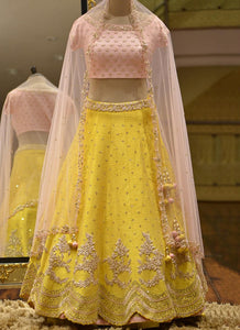Exclusive Heavy Designer Beautiful Yellow Color Party Wear Lehenga Choli - Stylizone
