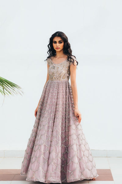 Baby Pink Color Beautiful Exclusive Designer Party Wear Dress CMD001