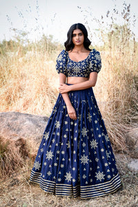 A103 Royal Blue Color Attractive Designer Beautiful Bridal Lehenga-Bridal Lehenga Store CME106