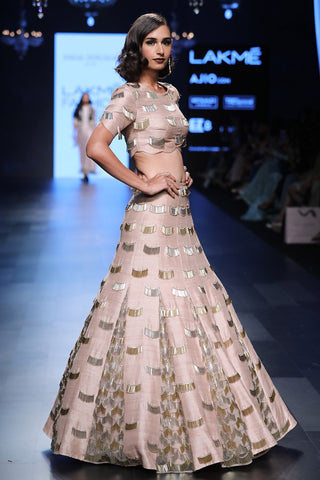 Beautiful Designer Baby Pink Color Printed Patiyala Fancy Jacket Dress-Bridal Lehenga Store
