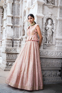 A103 Baby Pink Color Attractive Designer Beautiful Bridal Lehenga-Bridal Lehenga Store CME001