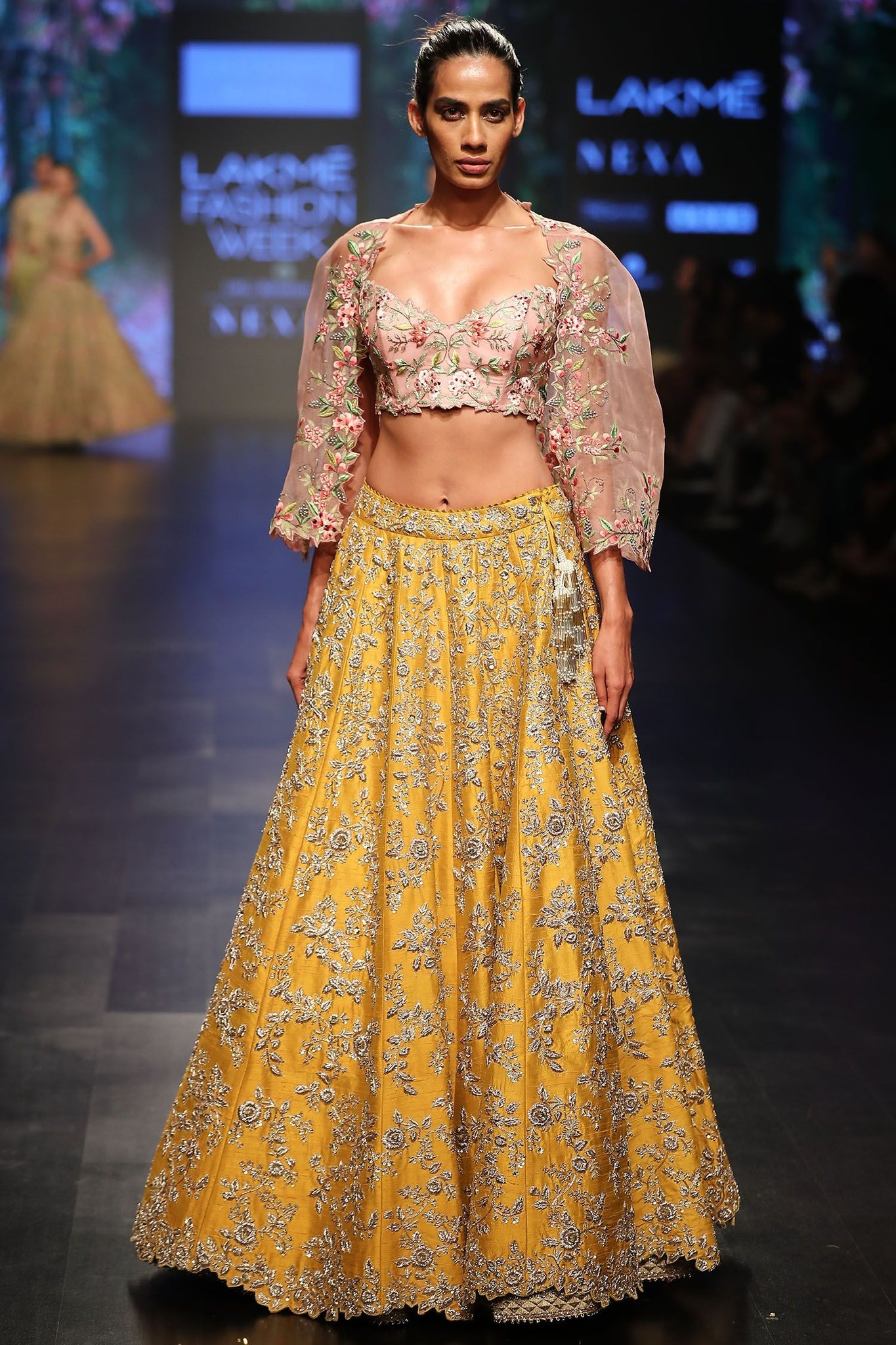 Yellow Color Attractive Designer Beautiful Bridal Lehenga-Bridal Lehenga Store CMB062