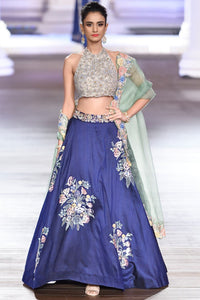 Exclusive Heavy Designer Beautiful Blue color Lehenga Choli-Bridal Lehenga Store