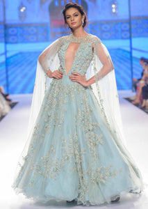 Sky Blue Color Beautiful Exclusive Designer Party Wear Dress CMD025