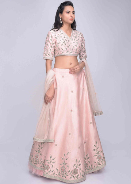Rose Pink Color Beautiful Attractive Designer Bridal Lehenga-Bridal Lehenga Store CME105