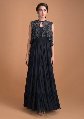 Black Color Beautiful Exclusive Designer Party Wear Dress CMD009